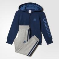 Adidas Tuta cotone Bambino Lk hojo ts Petrolio/grigio Fashion