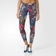 Adidas Leggings Fantasia Donna 3 str leggings Nero/multicolor Fashion