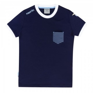 Macron T-shirt Bambino Ssl merch bg logo Blu Calcio