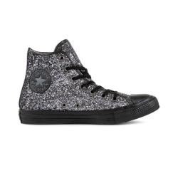 Converse Scarpe tela alta Donna All star hi glitter Grigio Fashion