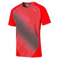 Puma T-shirt Uomo Running Arancio/nero Running