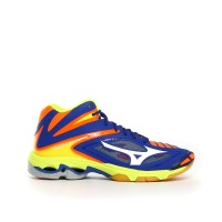 Mizuno Scarpe volley Uomo Wave lightning z3 mid Azzurro/arancio/lime Volley