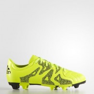 Adidas Scarpe calcio Bambino X 15.3 fg/ag j leat Giallo fluo/nero Calcio