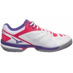 Mizuno Scarpe tennis Donna Wave exceed clay Bianco/viola/corallo Tennis