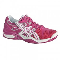 Asics Scarpe tennis Donna Gel resolution Fucsia/bianco/silver Tennis