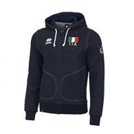 Errea Felpa zip Uomo Naz italia Denim Volley