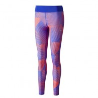 Mizuno Calzamaglia  Fantasia Donna Phenix printed long tights Arancio/viola Running