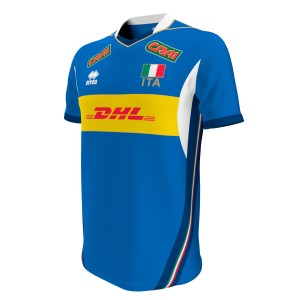 Errea Naz. italia volley 1^mg replica mc T-shirt Uomo