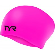 Tyr Cuffia Donna Long hair Rosa fluo Nuoto