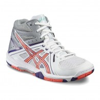 Asics Scarpe volley Donna Gel task mt Bianco/corallo/viola Volley