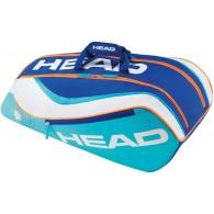 Head Porta racchette Bambino Junior combi Turchese/bianco/arancio/royal Tennis