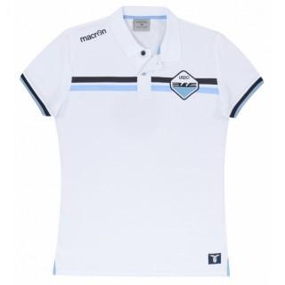 Macron Polo Uomo Ssl linea fan Bianco/celeste Calcio