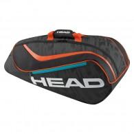 Head Porta racchette Bambino Junior combi Nero/arancio Tennis