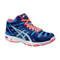 Asics Scarpe volley Donna Gel beymond 4 mt Blu/silver/arancio Volley