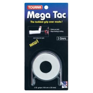 Tourna Overgrip Uomo Mega tac pz.3 Bianco Tennis