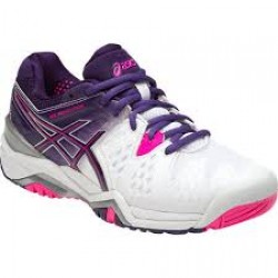 Asics Scarpe tennis Donna Gel resolution 6 Bianco/viola/fucsia Tennis